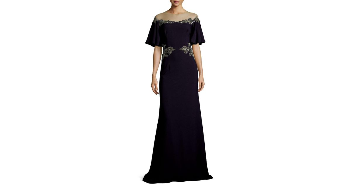 Lyst - David Meister Gown in Blue - Save 33.55555555555556%