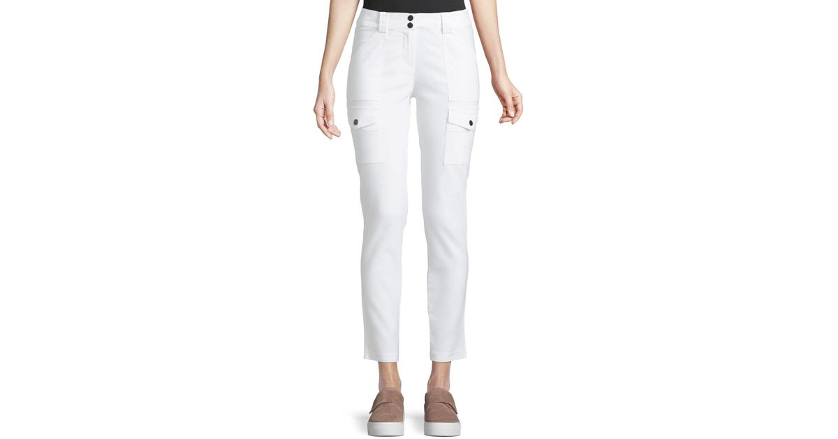 Lyst - Anatomie Kate Slim Cargo Pants in White