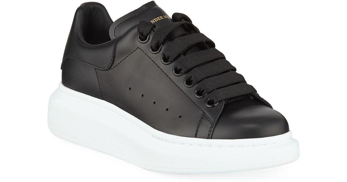 3895c415d Lyst - Alexander McQueen Pelle Lace-up Sneakers in Black