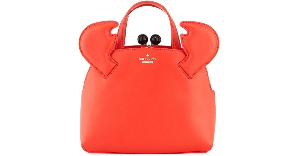 Lyst Kate Spade Shore Thing Small Crab Lottie Crossbody Bag In Red