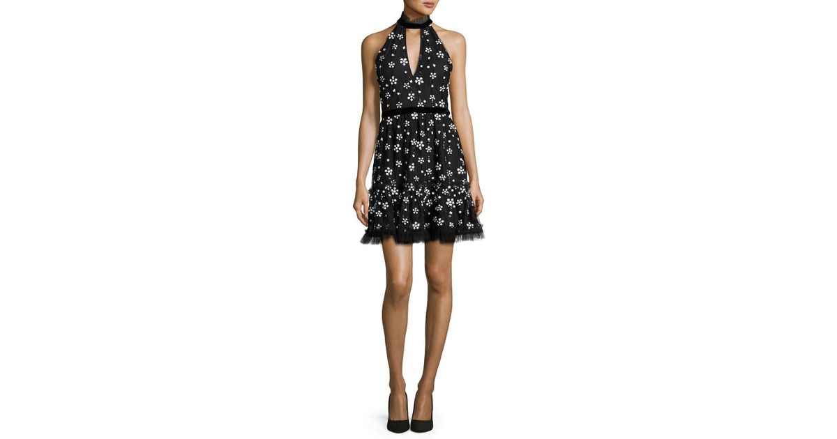 Lyst Alexis Poppy Sequined Cocktail Dress In Black