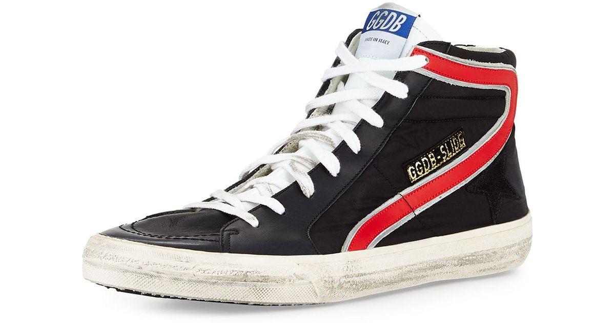 ae154bed7f8a Lyst - Golden Goose Deluxe Brand Men s Ggdb-slide Nylon High-top Sneaker in  Black for Men