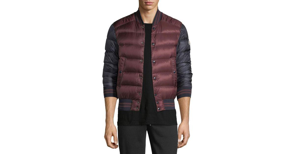 66b95d87c Moncler Red Bradford Puffer Jacket for men