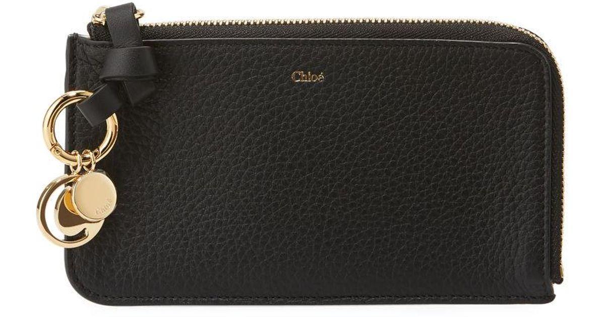 b474601c Chloé Black Alphabet Medium Zip-around Coin Purse W/ Card Slots
