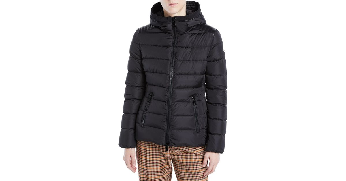 6f259c923 Moncler Black Tetras Channel-quilted Puffer Jacket