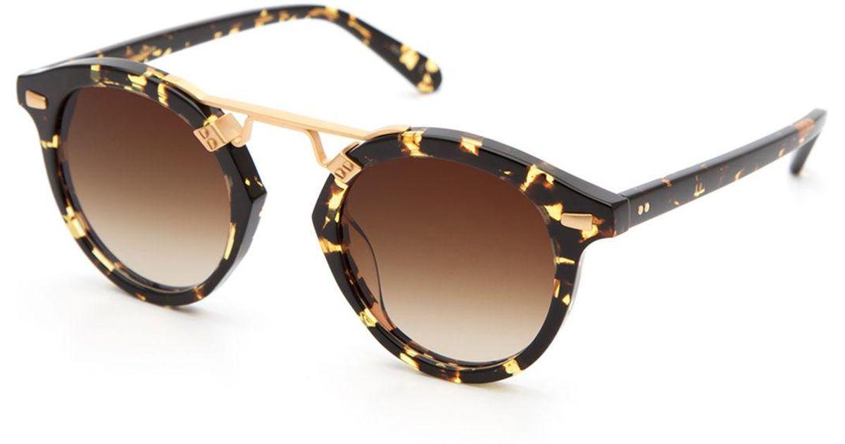 e7a59ddc66e8f Krewe Stl Ii Round Gradient Sunglasses in Brown - Lyst