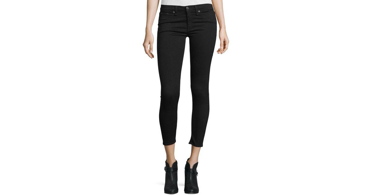 e0a856ba2b5ef Lyst - Rag   Bone Nero Capri Denim Jeans in Black
