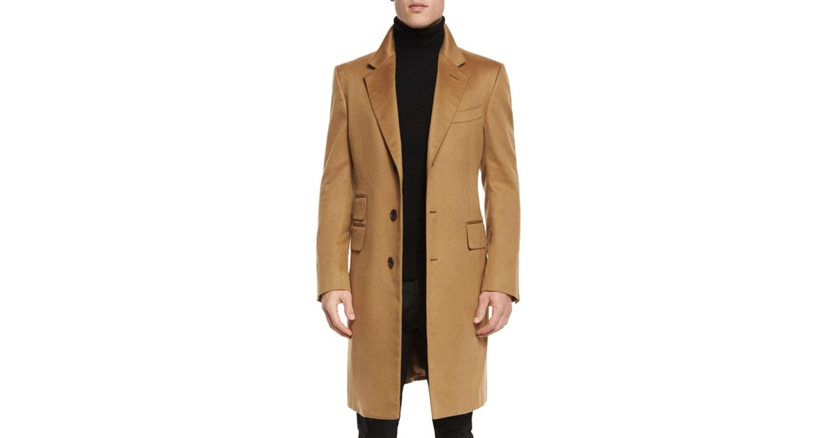 clearance prices beautiful and charming beautiful style Tom Ford - Natural Classic Tailored Single-breasted Top Coat for Men - Lyst
