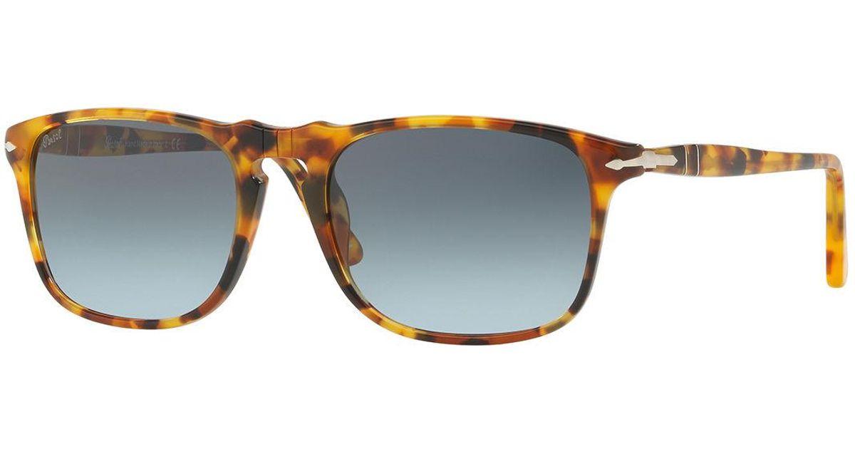 c53e6a29b6 Lyst - Persol Tortoiseshell Acetate Sunglasses in Blue for Men