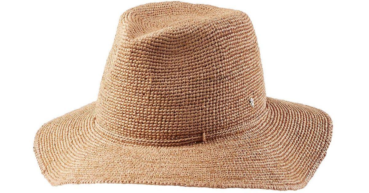 2faf25a66741 Helen Kaminski Desmonda Raffia Sun Hat in Natural for Men - Lyst