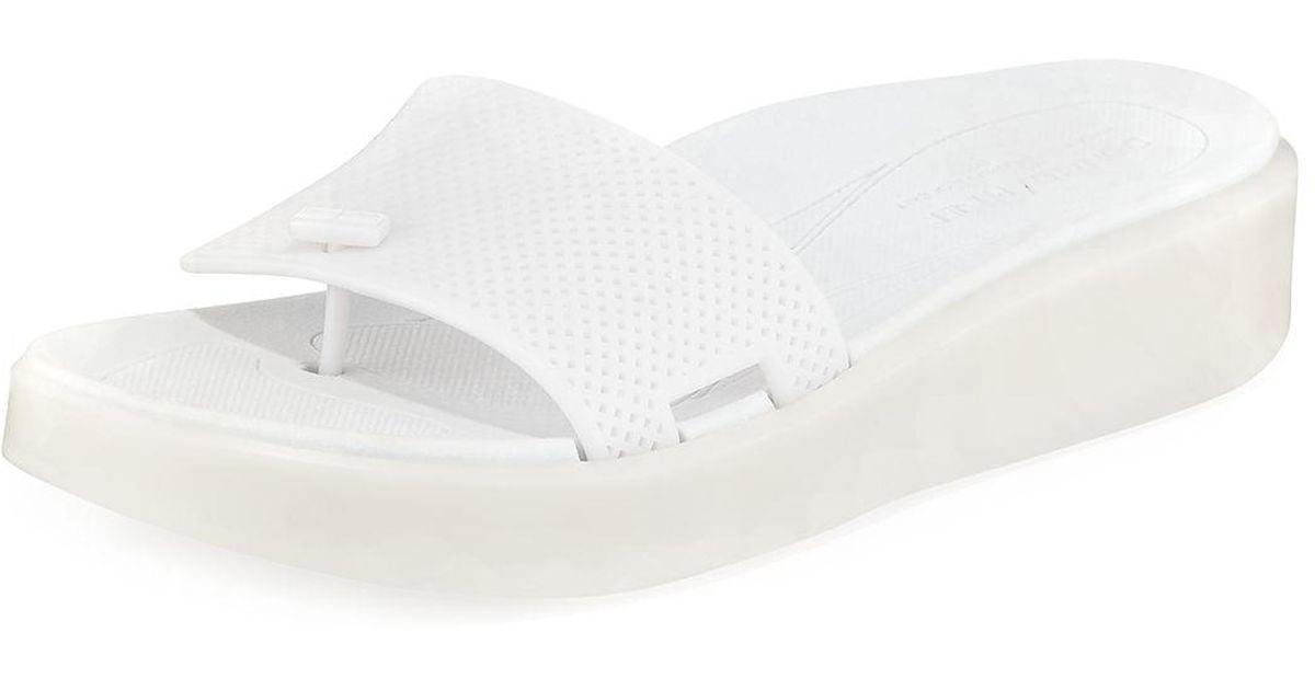 a07f9433ecf50 Donald J Pliner White Bondi Platform Jelly Sandals