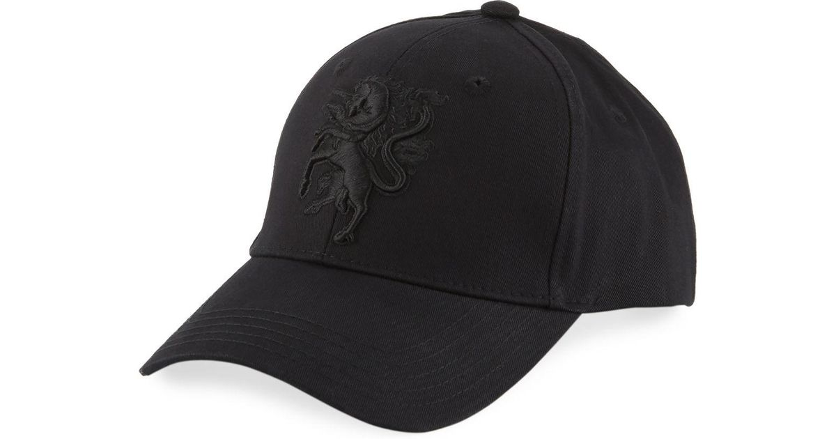 Lyst - Philip Treacy Baseball Cap W  Embroidered Logo in Red for Men 36aaf4af7667