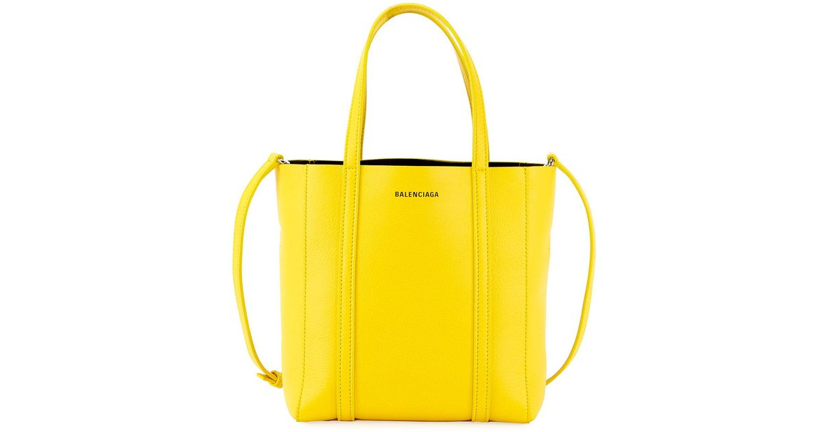 Balenciaga Yellow Every Day S Aj Leather Tote Bag