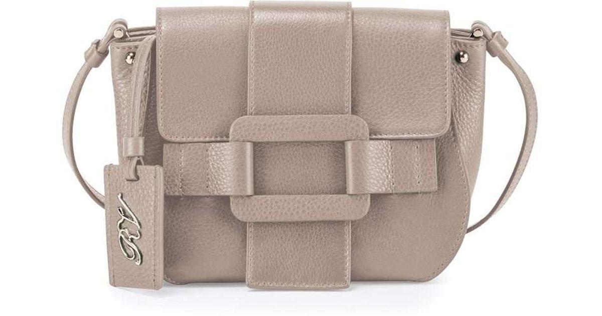 Lyst - Roger Vivier Pilgrim De Jour Leather Crossbody Bag 6cff1f89e674e