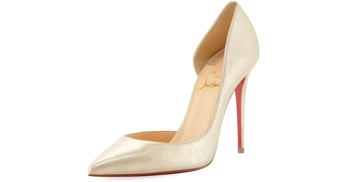 the best attitude 77625 5bb41 Christian Louboutin Multicolor Iriza 100mm Metallic Suede Red Sole Pumps