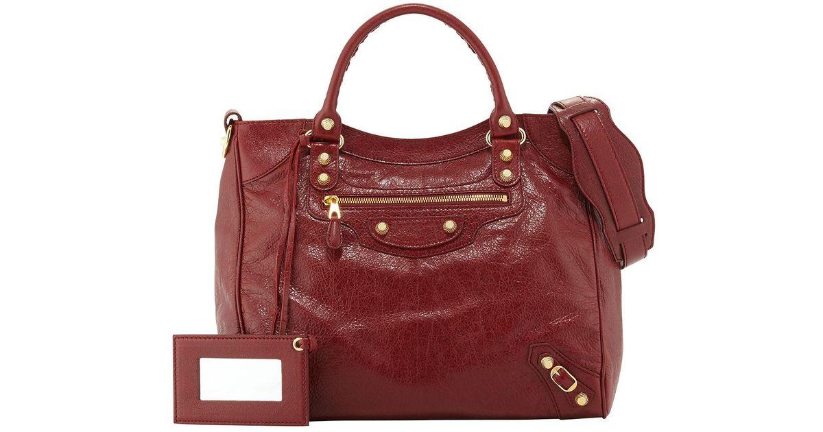 3c42c82f60b Balenciaga Giant 12 Velo Aj Bag in Red - Lyst
