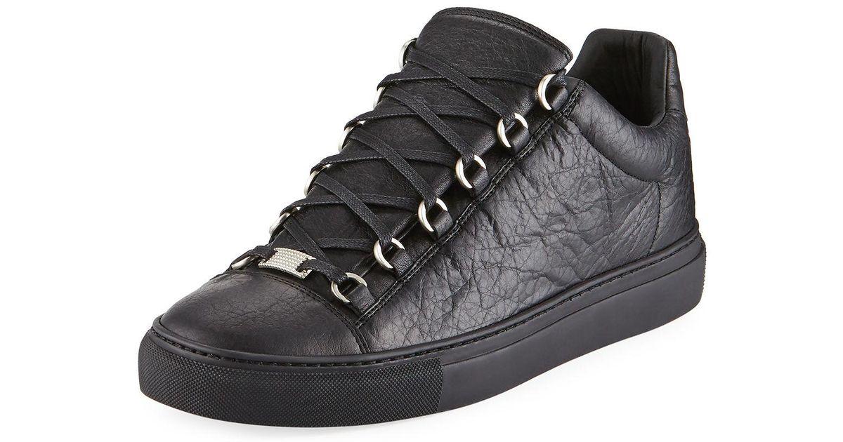 Balenciaga Men's Arena Leather Low-top