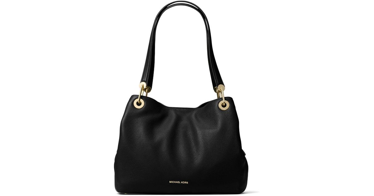 a9cb7c24338f Lyst - MICHAEL Michael Kors Raven Large Leather Tote Bag in Black