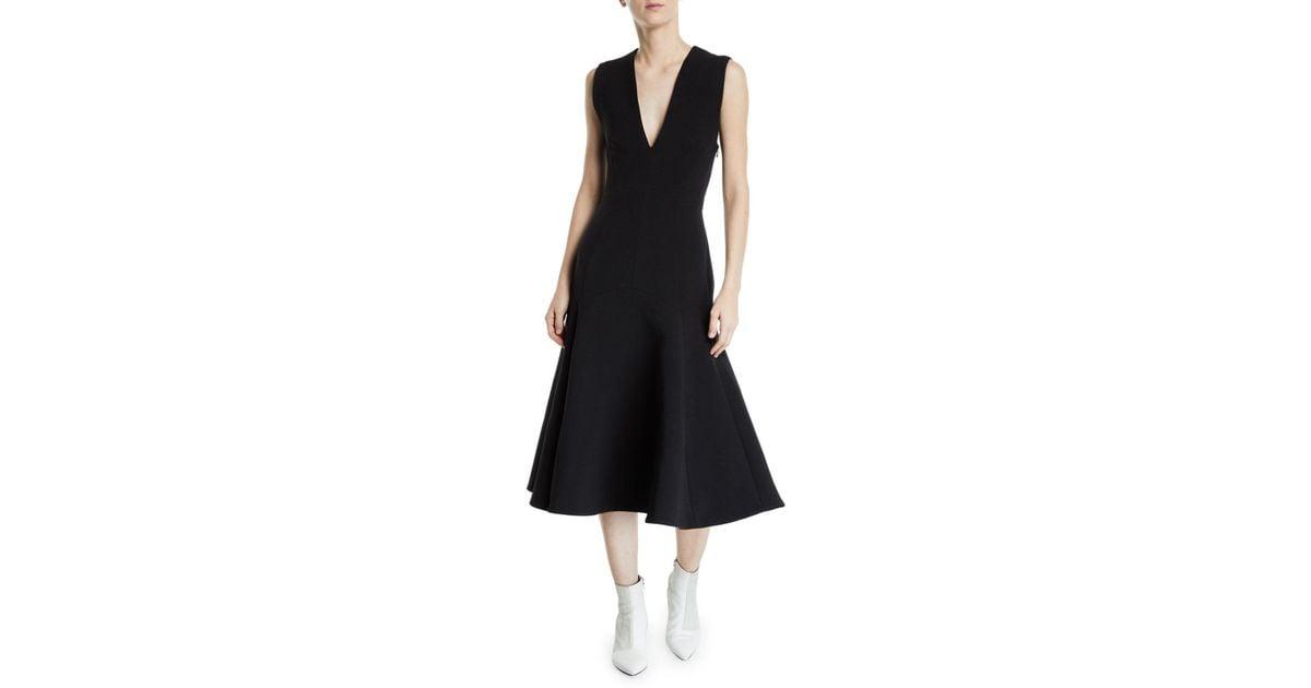 96666c3cfcc3e Lyst - Camilla   Marc Ames V-neck Sleeveless Crossed-back Dress in Black