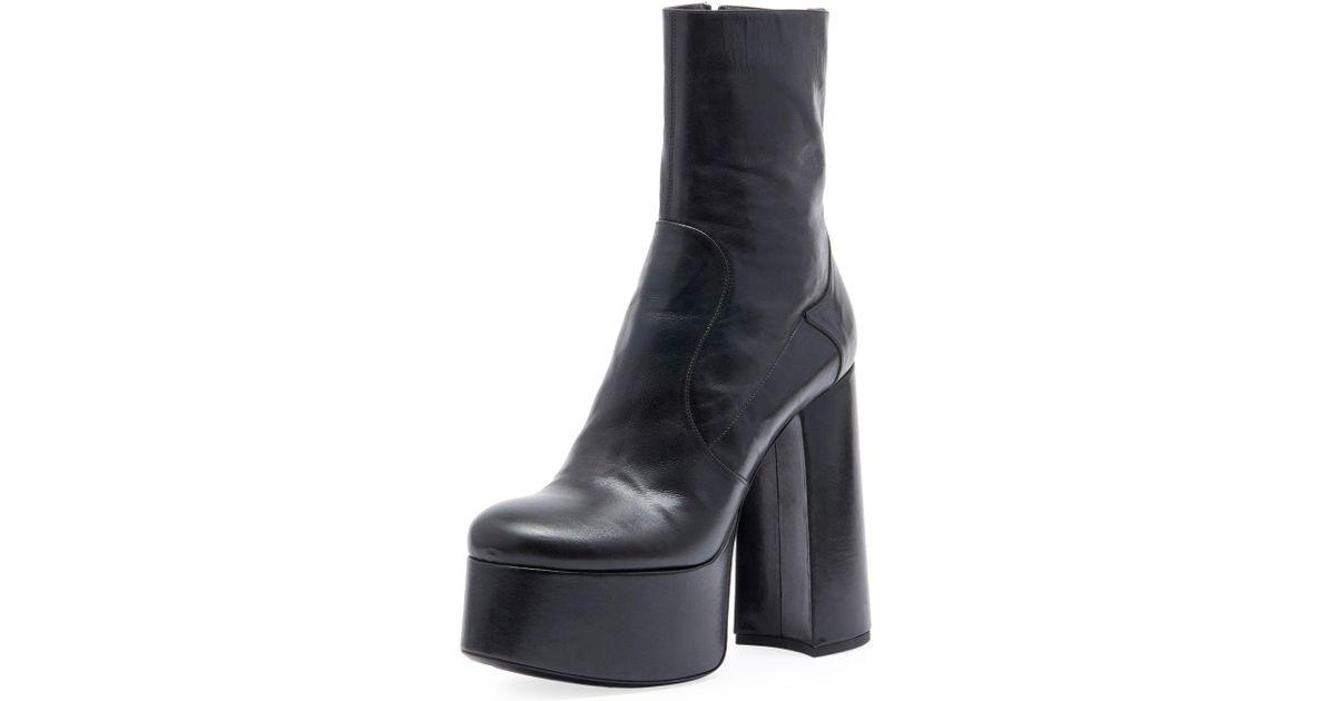 f39841803320 Lyst - Saint Laurent Billy Platform Leather Boots in Black
