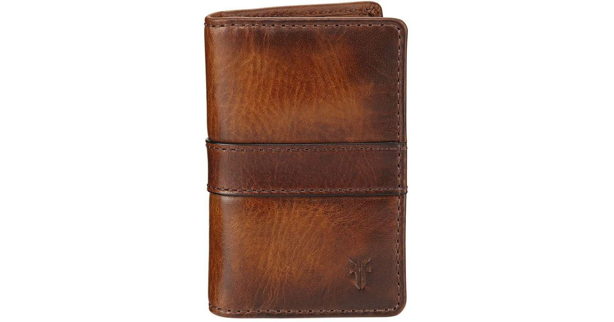 1f8e7b562fd6 Lyst - Frye Oliver Tall Leather Bi-fold Wallet in Brown for Men