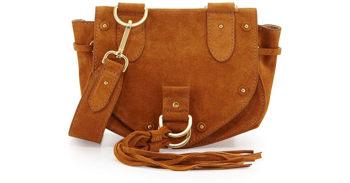 bdf9f925 See By Chloé Multicolor Collins Fringe Suede Saddle Bag