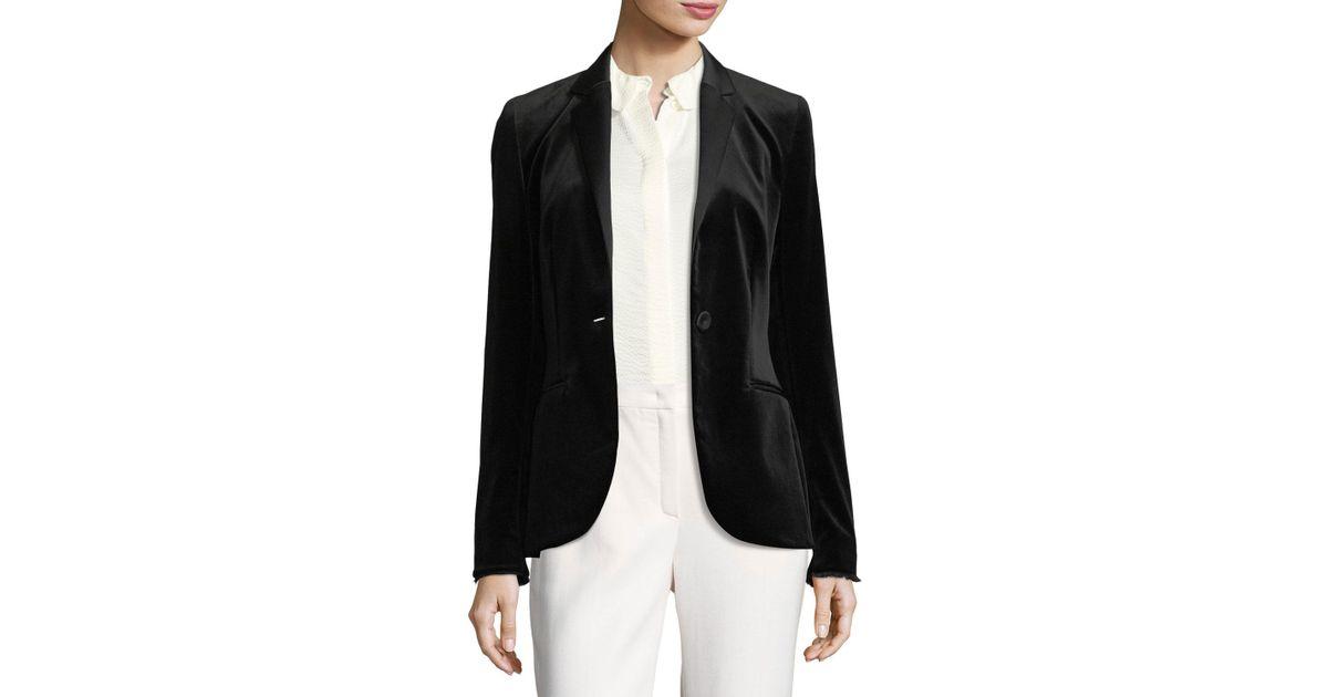 c0d5eb05659 ESCADA Velvet Tuxedo Jacket Black in Black - Lyst