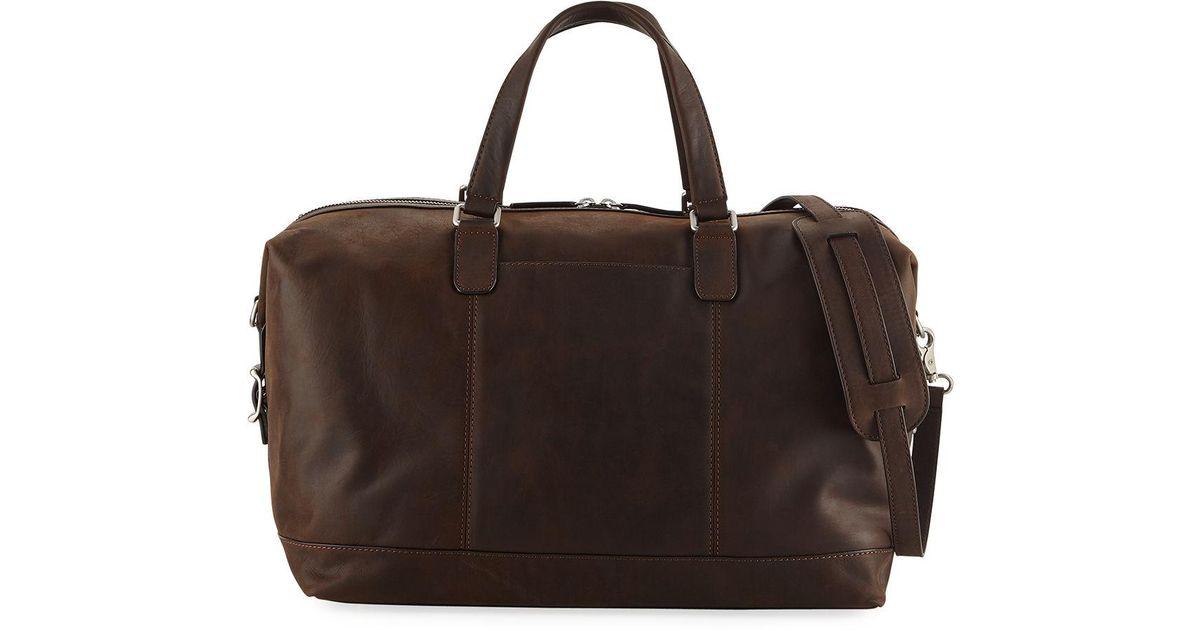 9c3a5eb7520ff Lyst - Frye Men s Oliver Suede Overnight Bag in Brown for Men