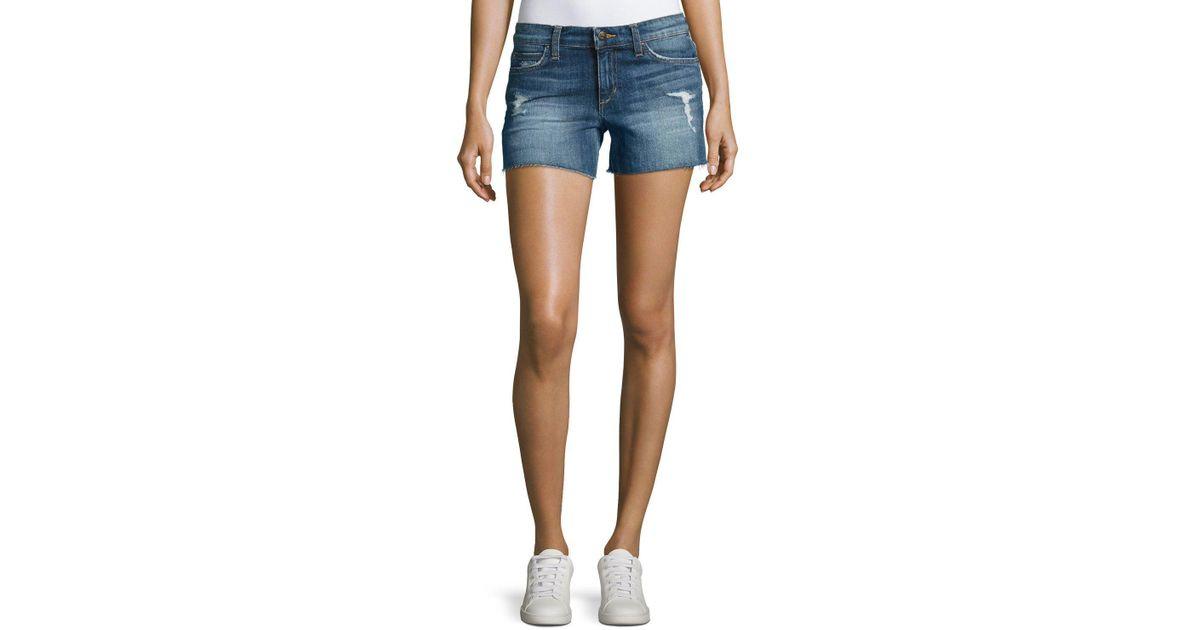 dac5060c2f Joe's Jeans The Ozzie Mid-rise Cutoff Denim Shorts in Blue - Lyst