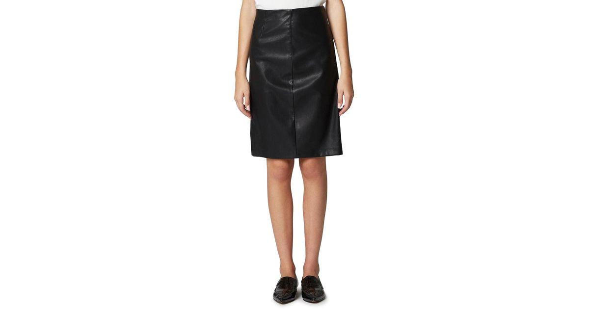 a48d2f4dd1 Lyst - Blank NYC Vegan Leather Side-split Pencil Skirt in Black