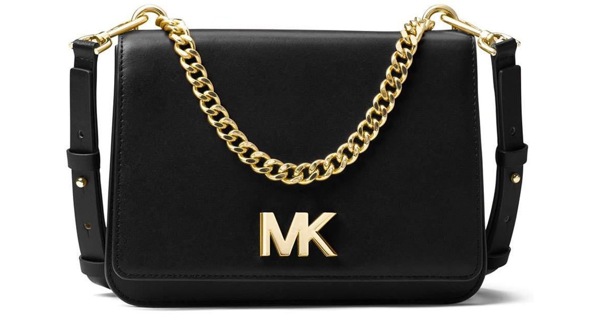 4f7e5568985a0 Lyst - MICHAEL Michael Kors Mott Large Chain Swag Shoulder Bag in Black