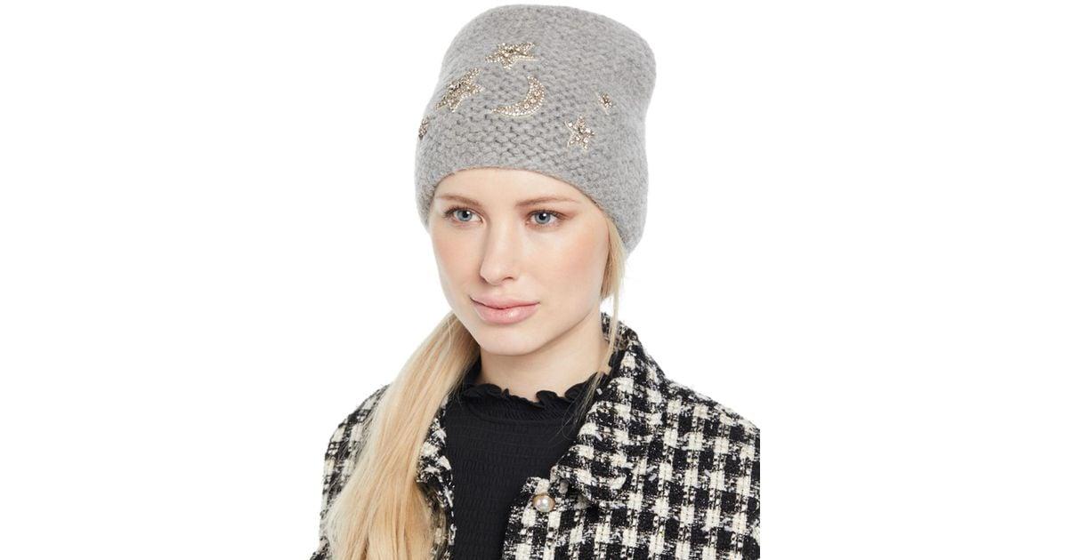 c890ce782b1 Lyst - Jennifer Behr Galexia Stars   Moon Embellished Beanie Hat