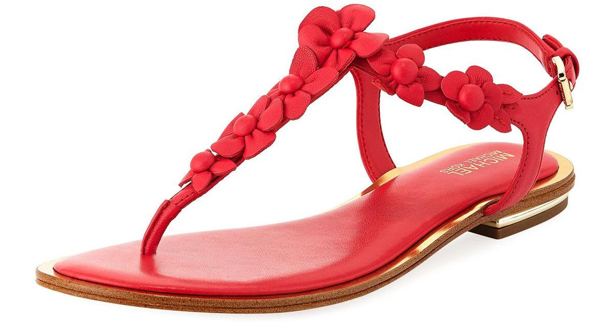 5cc283790 Michael Michael Kors Tricia Flower Thong Sandal in Pink - Lyst