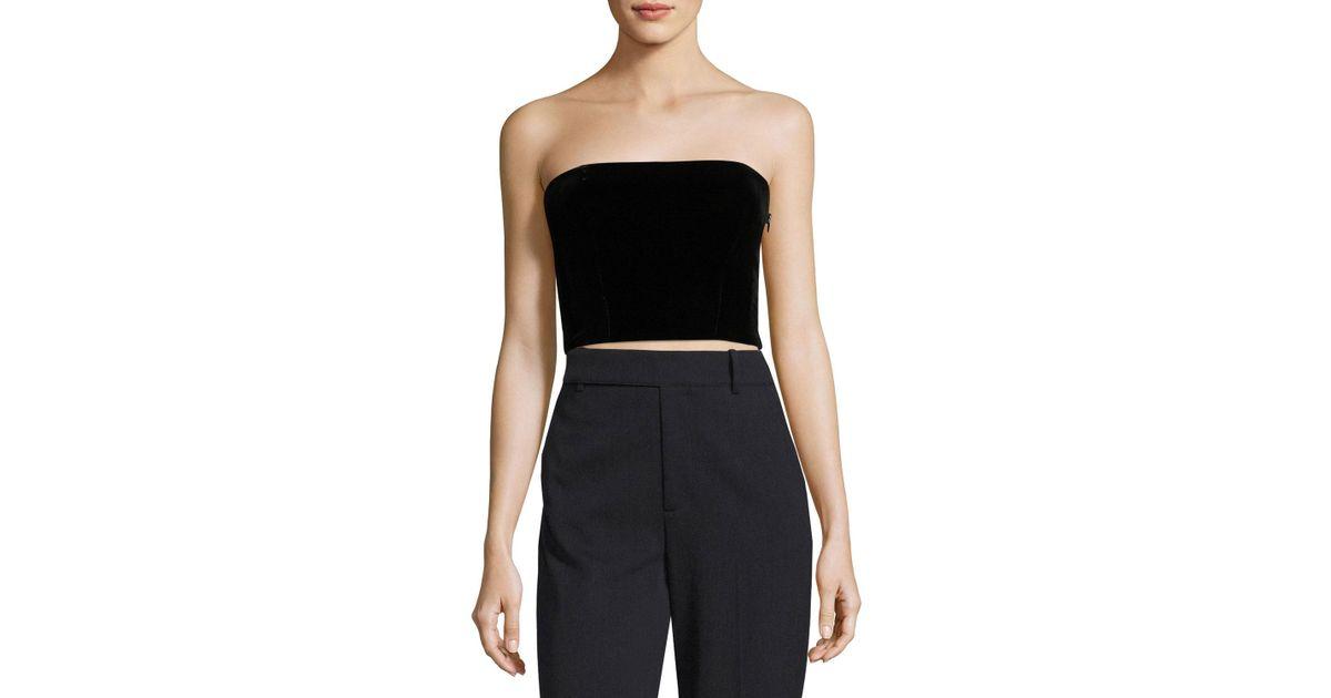 Strapless Black Shirt