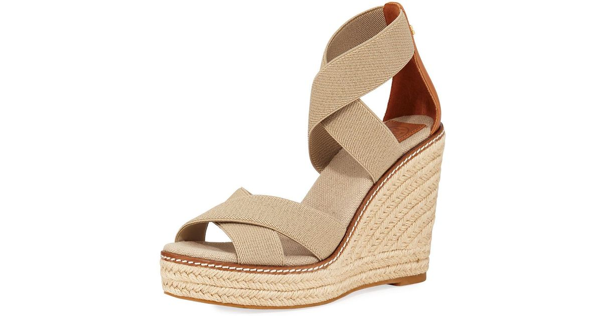 b189ec4dd Tory Burch Frieda Espadrilles Sandals in Brown - Save 70% - Lyst
