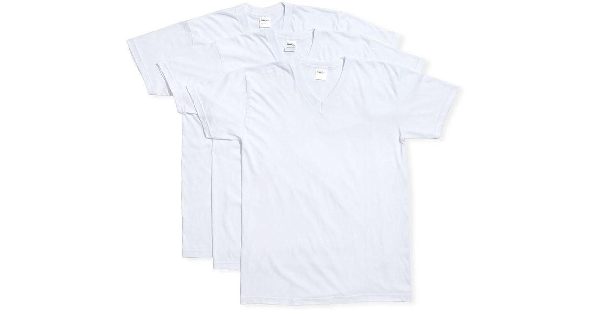 f84a149516258 Lyst - Neiman Marcus Men s 3-pack Cotton Stretch T-shirts in White for Men
