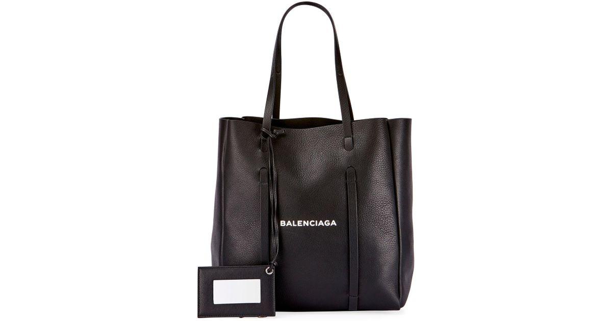 Balenciaga XS Square Logo Leather Tote Bag 1dIsy