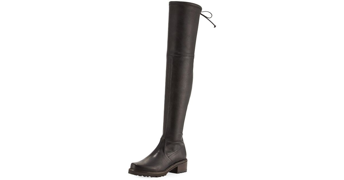 c2ddd5187cb Lyst - Stuart Weitzman Vanland Leather Over-the-knee Boot in Black