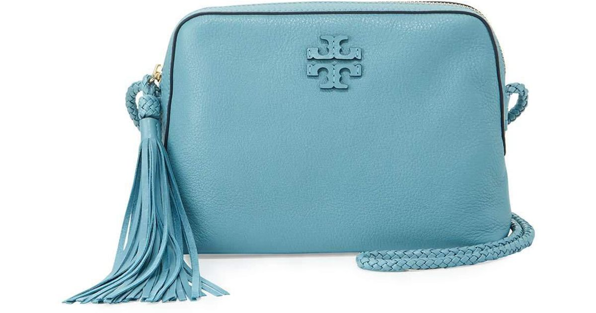 f88f6177e2a4a Lyst - Tory Burch Taylor Leather Camera Bag in Blue