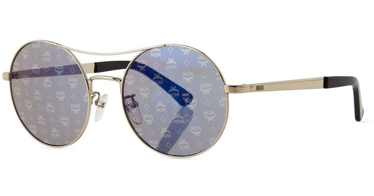 27b56cc0e8 Lyst - MCM Holographic 3d Visetos Round Sunglasses in Metallic for Men