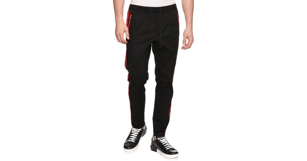 504d241db5e6d Lyst - Dolce   Gabbana Men s Side-stripe Jogger Pants in Black for Men