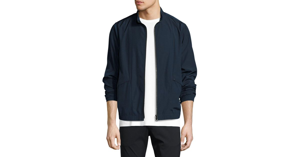 af85414a30 Theory Drafted Zip Blouson Bomber Jacket in Blue for Men - Lyst