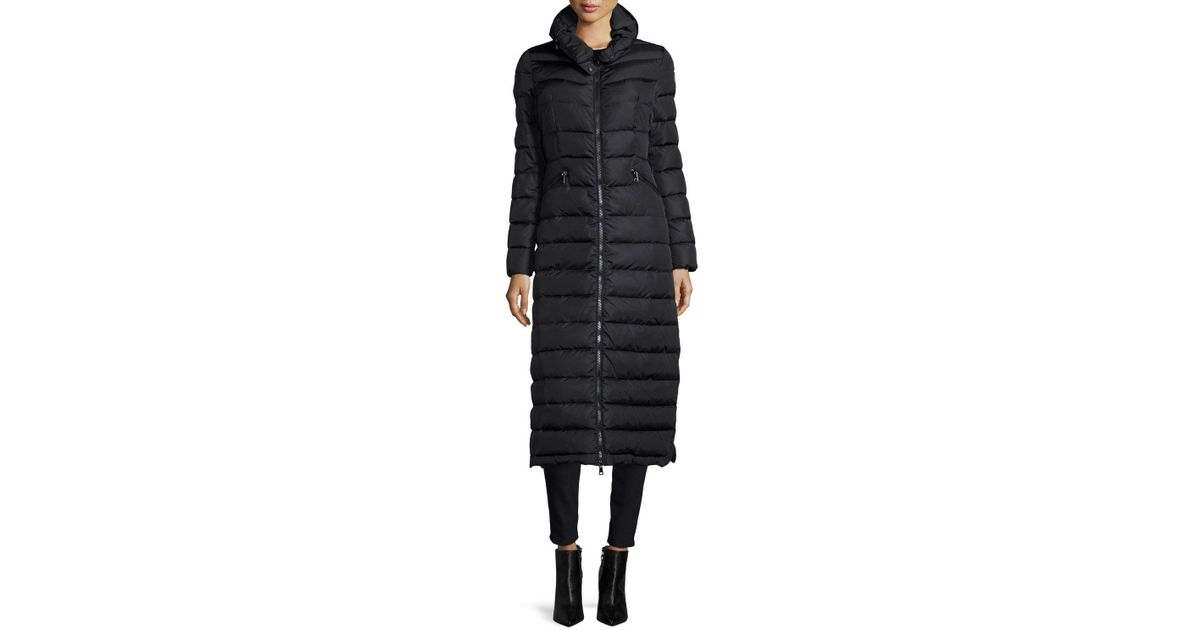 5b882586c Moncler Black Flammong Long Puffer Coat