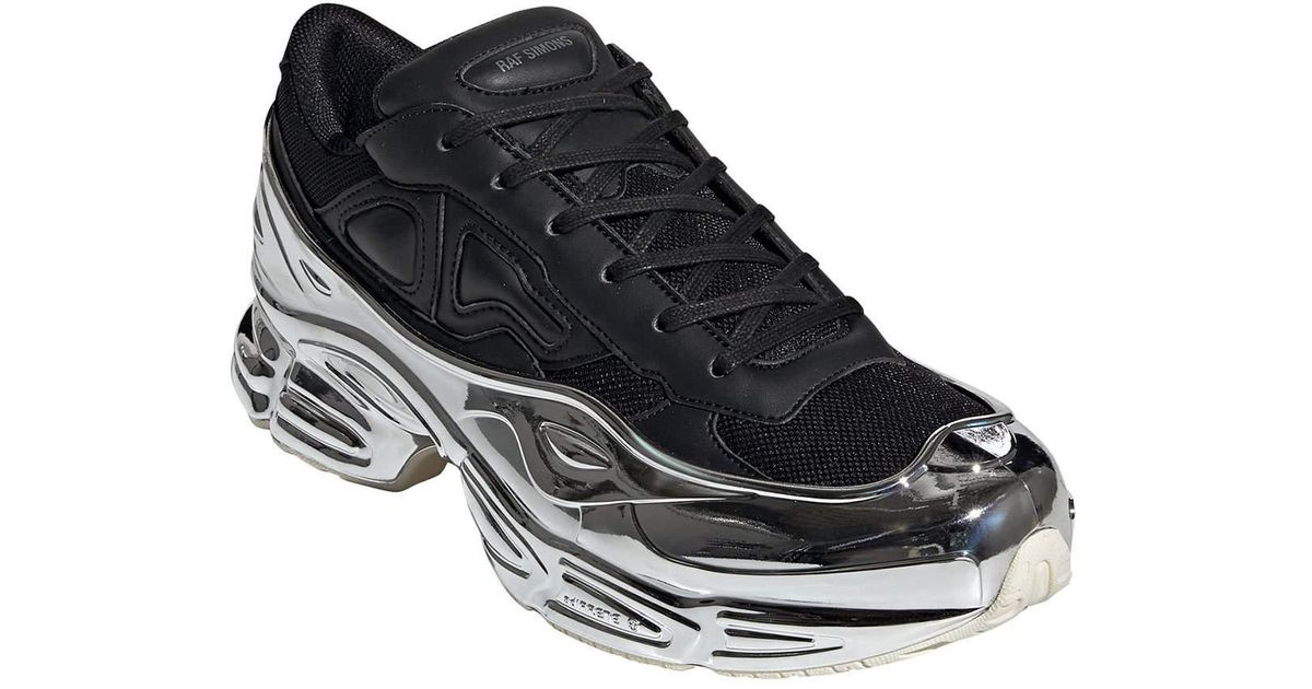 Adidas By Raf Simons Black Men's Ozweego Extra chunky Metallic Dad Sneakers for men