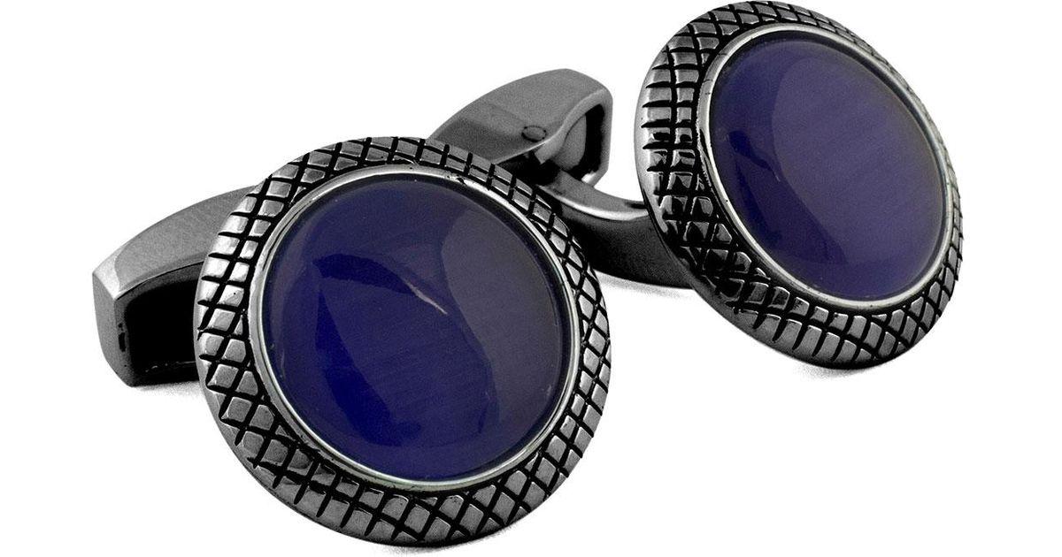 Tateossian Bulls Eye Fiber Optic Cuff Links X9HHkJf