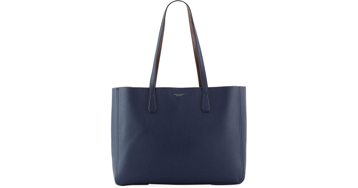 4cf0d32ea42 Tory burch phoebe leather tote bag in blue lyst jpeg 1200x630 Tory burch  phoebe tote