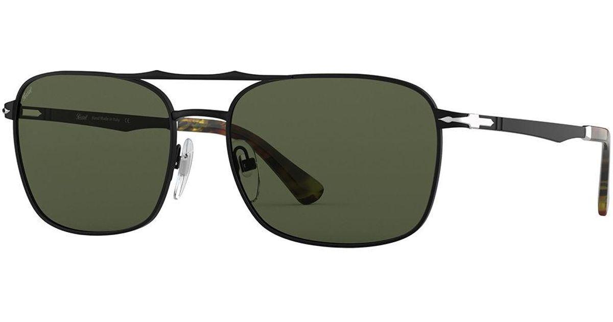 4120a5863e Lyst - Persol Men s Po2454s Square Metal Sunglasses in Black for Men