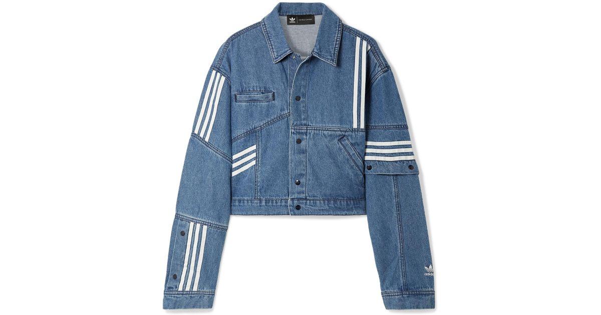 de66eec5f6 Lyst - adidas Originals Daniëlle Cathari Oversized Snap-embellished  Patchwork Denim Jacket in Blue