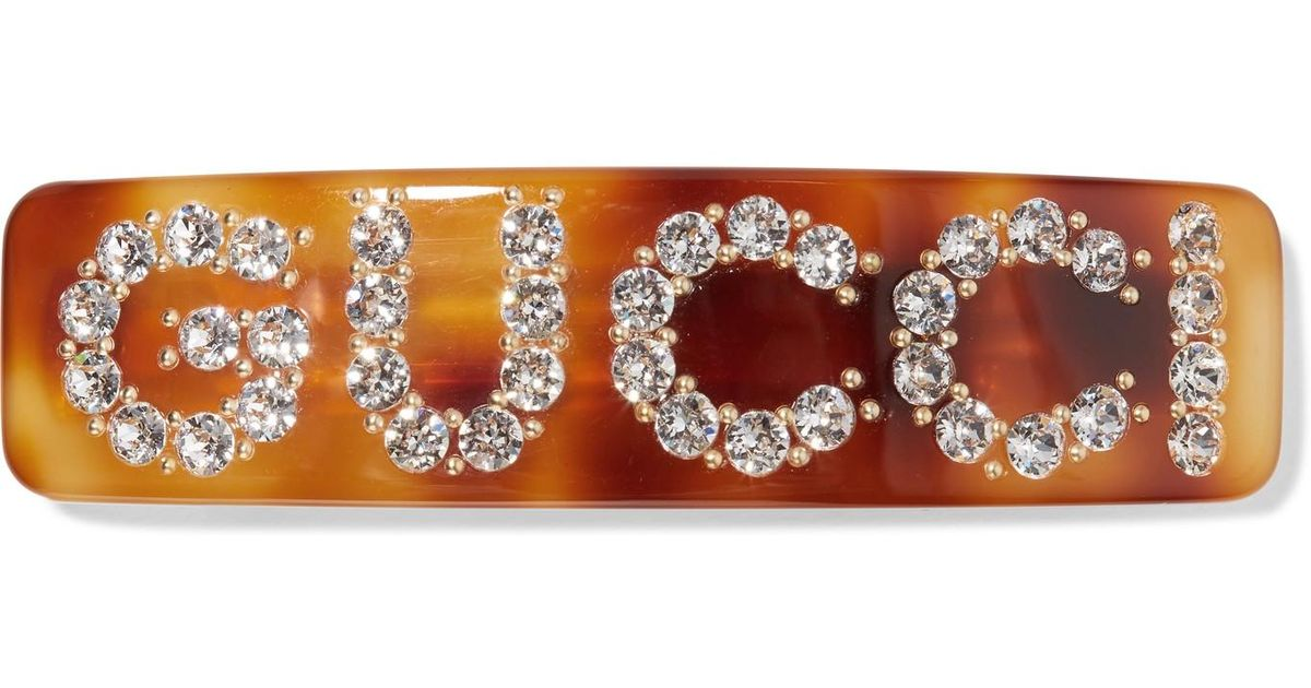 4a5a23ad5 Gucci Crystal-embellished Resin Hairclip - Lyst