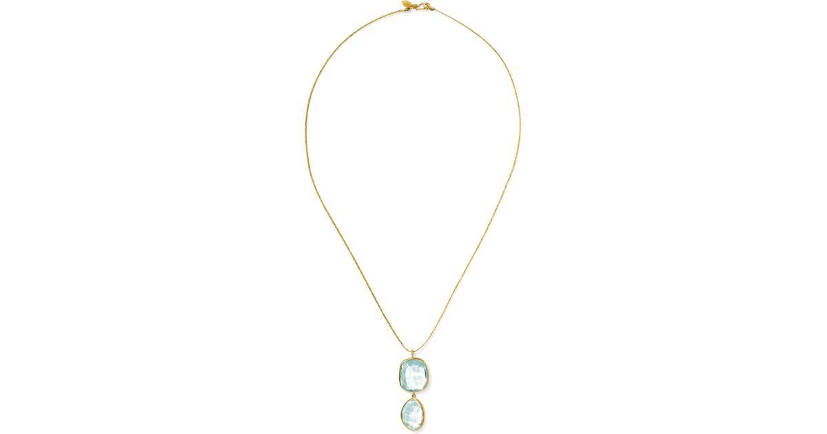 Pippa Small 18-karat Gold Aquamarine Necklace fpRt2lY7f